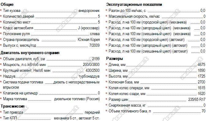 hyundai starex 4wd технические характеристики 2010